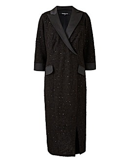 Scarlett & Jo Boucle Tuxedo Dress