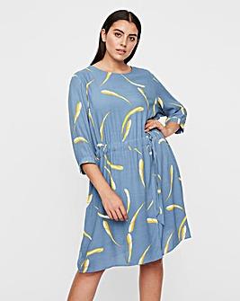 I.scenery Print Round Neck Dress