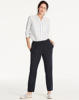 Vero Moda Linen Blend Relaxed Ankle Pant