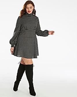 Fashion Union Checked Skater Dress