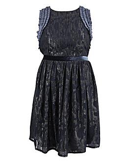 Lovedrobe Pleated and Velvet Dress
