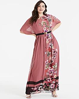Little Mistress Printed Maxi Dress