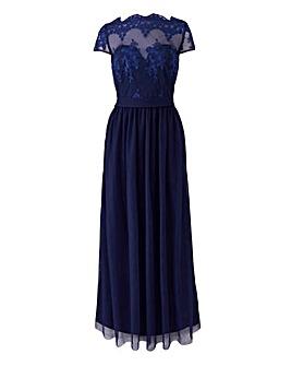 Little Mistress Embroidered Maxi Dress