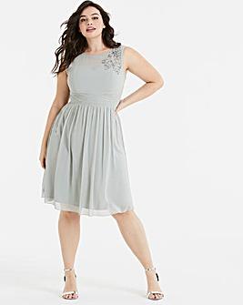 Little Mistress Embellished Skater Dress
