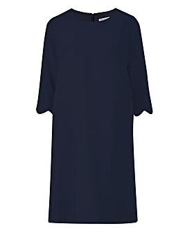 Helene Berman Scallop Edge Dress