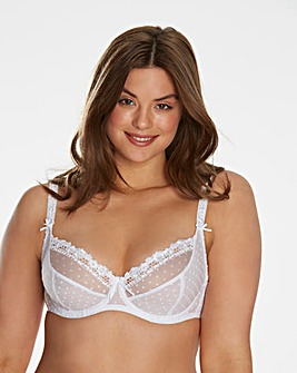 Curvy Kate Princess White Balcony Bra