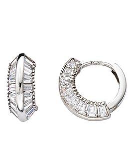 9 Carat White Gold Huggy Earrings