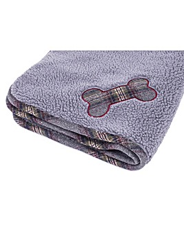 Petface Grey Tweed Comforter Blanket