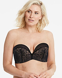 4342b4ee0d3 Wonderbra Glamour Lace Black Strapless