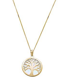 9 Carat Gold Tree of Life Pendant