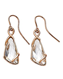 Triangle Rose Entwined Drop Earrings