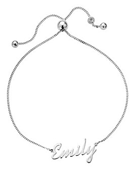 Sterling Silver Personalised Toggle Bracelet