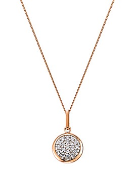 Two-tone CZ Pave Coin Pendant