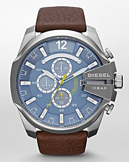 Diesel Mens Mega Chief Strap Watch