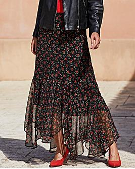 Joanna Hope Print Frill Hem Skirt