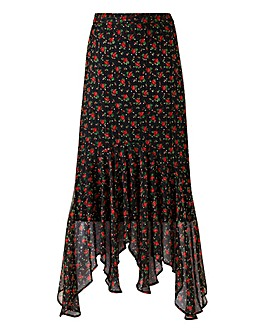 Joanna Hope Print Frill Hem Skirt