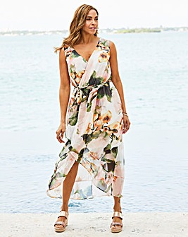 Joanna Hope Print Wrap Maxi Dress