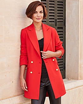 Joanna Hope Tomato Tailored Blazer