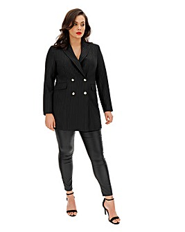 Joanna Hope Stripe Tailored Blazer