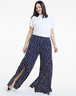 Joanna Hope Split Leg Spot Trouser