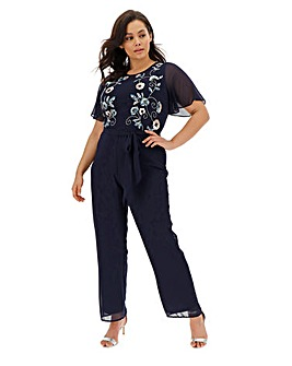 Joanna Hope Beaded Jumpsuit