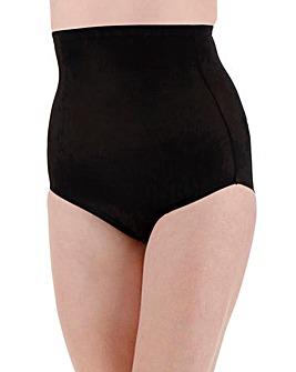 Naomi & Nicole Comfortable Firm Control Hi Waist Black Briefs