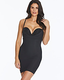 Maidenform Wear Your Own Bra Take Inches Off Black Full Slip