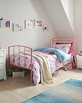 Metal single Bed with Mattress