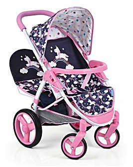 Unicorn Doll Malibu Duo Stroller