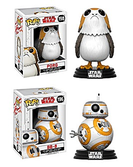 POP! Figure 2pk - Star Wars BB-8 & Porg