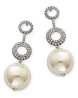 MIXED PEARL DROP EARRING