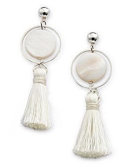 Mini Stone Tassel Earrings