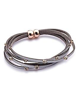 Suedette Wrap Bracelet