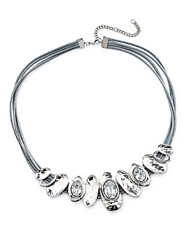 Crystal Cord Collar Necklace