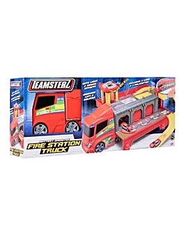 Teamsterz Fire Station Truck Playset