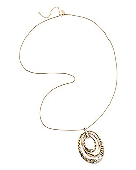 Layered Circel Pendant Necklace