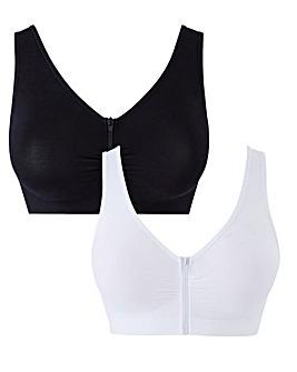2 Pack Zip Fastening Comfort Tops