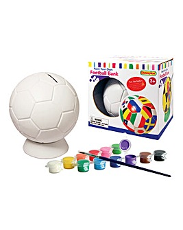 Paint Your Own Football Money Bank