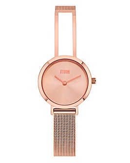 Storm Ladies Rose-tone Mesh Watch