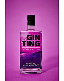 GinTing Passionfruit Mango & Elderflower Premium Gin 70cl