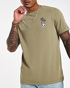 Skull Palm Graphic T-shirt Long