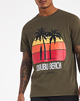 Sunset Surfboards Graphic T-shirt Long
