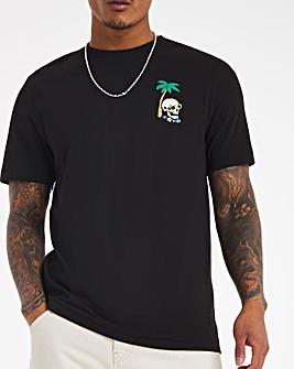 Skull Lounge Graphic T-shirt Long