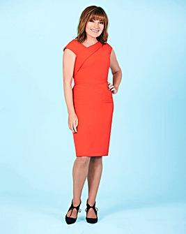Lorraine Kelly Asymmetric Neckline Dress