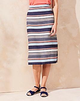 Lily & Me Stripe Midi Skirt