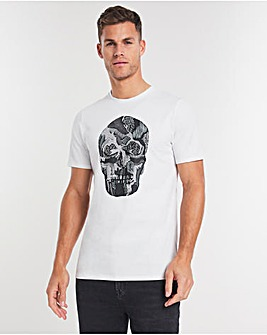 Embellished Skull T-shirt Long