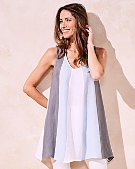 Eden Rock Linen Colour Block Tunic