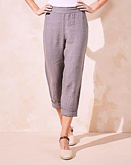 Eden Rock Linen Roll Up Crop Trousers