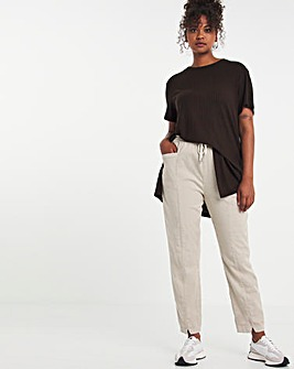 Chocolate Soft Touch Side Split Tee