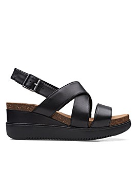 Clarks Unstructured Lizby Cross Standard Fitting Sandals